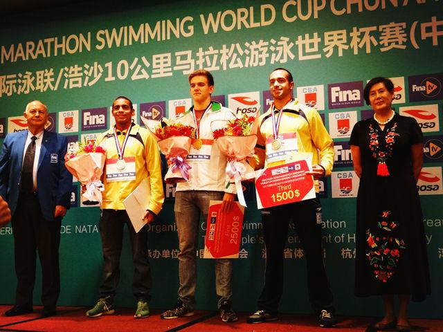 马拉松游泳世界杯赛千岛湖站决胜负
