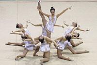 国际艺术集体操比赛开赛
