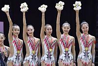 艺体亚锦赛中国集体3球2绳夺冠