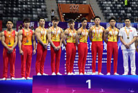 全国体操锦标赛男团决赛赛况