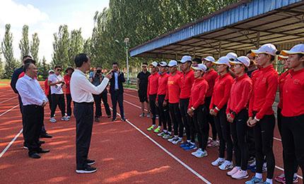 总局领导看望正在青海训练的国家竞走队