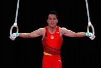 邓书弟获得亚运会男子吊环冠军