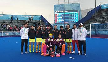 青奥会女子五人制曲棍球小组赛中国队排名居前