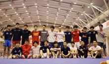 中日体操男队首次进行合练